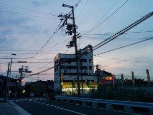 夕日の帰り道